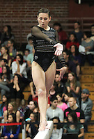 STANFORD, CA--March 1, 2013--Amanda Spinner with Stanford women's Gymnastics team competes on the beam during the competition against Cal and Oregon State University on the Stanford University Campus. Stanford won the competition .  Amanda Spinner