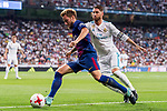 Ivan Rakitic (l) of FC Barcelona competes for the ball with Sergio Ramos of Real Madrid during their Supercopa de Espana Final 2nd Leg match between Real Madrid and FC Barcelona at the Estadio Santiago Bernabeu on 16 August 2017 in Madrid, Spain. Photo by Diego Gonzalez Souto / Power Sport Images