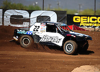 Apr 15, 2011; Surprise, AZ USA; LOORRS driver Josh Merrell (22) during round 3 and 4 at Speedworld Off Road Park. Mandatory Credit: Mark J. Rebilas-.
