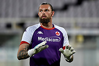 Bartlomiej Dragowski of ACF Fiorentina reacts during the warm up prior to the Italy cup football match between ACF Fiorentina and Cosenza calcio at Artemio Franchi stadium in Florence (Italy), August 13th, 2021. ACF Fiorentina won 4-0 over Cosenza calcio. Photo Andrea Staccioli / Insidefoto