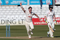 Sam Cook of Essex appeals for a wicket during Essex CCC vs Durham CCC, LV Insurance County Championship Group 1 Cricket at The Cloudfm County Ground on 17th April 2021