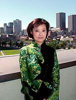 Montreal, 1999-09-01. Chinese actress Yuan Li who plays in the movie ``An Unusual Love`` by famous director Wu Tienming, pose for photographers at a private reception during the World Film Festival in Montreal (Quebec, Canada)<br /> <br /> Photo : (c ) 1999  Pierre Roussel - Images Distribution