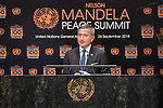 "Opening Plenary Meeting of the Nelson Mandela Peace Summit<br /> <br /> . His Excellency Vivian BALAKRISHNAN ""Minister for Foreign Affairs of Singapore(on behalf of the Association of Southeast Asian Nations)"