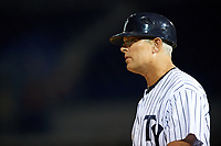 Tampa Yankees manager Jay Bell (40) during a game against the Fort Myers Miracle on April 12, 2017 at George M. Steinbrenner Field in Tampa, Florida.  Tampa defeated Fort Myers 3-2.  (Mike Janes/Four Seam Images)