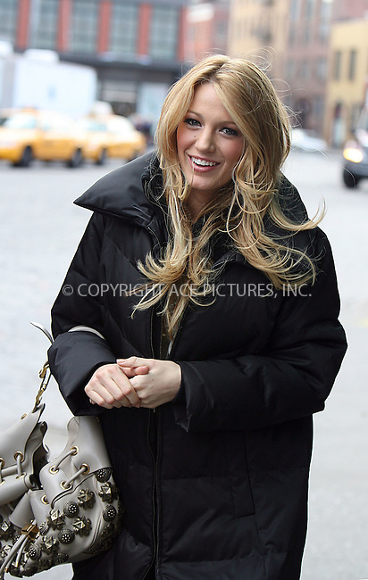 WWW.ACEPIXS.COM . . . . .  ....March 26 2008, New York City....Actress Blake Lively was in the Meat Packing District on the set of 'Gossip Girl'.....Please byline: PHILIP VAUGHAN - ACEPIXS.COM.... *** ***..Ace Pictures, Inc:  ..te: (646) 769 0430..e-mail: info@acepixs.com..web: http://www.acepixs.com