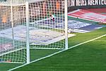 Ball am Tor vorbei, , Nürnberg, Deutschland, 27 April, 2021. Max Morlock Stadion beim Spiel in der 2. Bundesliga, 1. FC Nürnberg - Holstein Kiel    <br /> <br /> Foto © PIX-Sportfotos *** Foto ist honorarpflichtig! *** Auf Anfrage in hoeherer Qualitaet/Aufloesung. Belegexemplar erbeten. Veroeffentlichung ausschliesslich fuer journalistisch-publizistische Zwecke. For editorial use only. DFL regulations prohibit any use of photographs as image sequences and/or quasi-video.