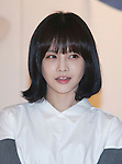 """Bo-Ram(T-ara), Jun 30, 2014 : South Korean singer Boram, a member of girl group, T-ara, speaks as she visits a news conference of Hyomin (not in photo) in Seoul, South Korea. Hyomin, a member of T-ara, will release her first solo mini album,""""Nice Body"""" on July 2. (Photo by Lee Jae-Won/AFLO) (SOUTH KOREA)"""