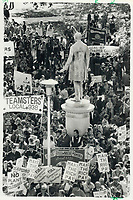 1980 FILE PHOTO - ARCHIVES -<br /> <br /> Angry trade unionists marched on Queen's Park in October to protest layoffs and plant closings. [Incomplete]<br /> Bezant, Graham<br /> Picture, 1980<br /> <br /> 1980<br /> <br /> PHOTO : Graham Bezant - Toronto Star Archives - AQP