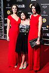 Melina Matthews, Olivia Delcan and Miranda Gas during the Blood Red Carpet at Festival de Cine Fantastico de Sitges in Barcelona. October 12, Spain. 2016. (ALTERPHOTOS/BorjaB.Hojas)