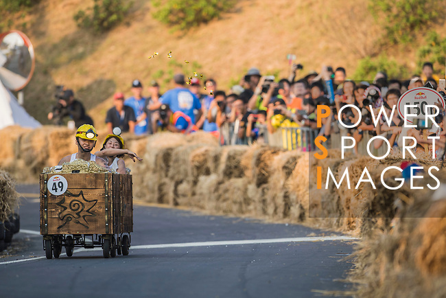 Team 向陽採礦隊  in action during the Red Bull Soapbox Race 2017 Taipei at Multipurpose Gymnasium National Taiwan Sport University on 01 October 2017, in Taipei, Taiwan. Photo by Victor Fraile / Power Sport Images