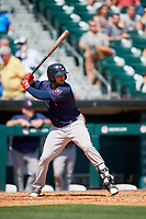 Pawtucket Red Sox third baseman Mike Olt (2) at bat during a game against the Buffalo Bisons on June 28, 2018 at Coca-Cola Field in Buffalo, New York.  Buffalo defeated Pawtucket 8-1.  (Mike Janes/Four Seam Images)