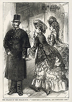 In Burlington Arcade London the beadle is bribed by 'gay' girls to allow them to ply their trade there.  The shop- keepers don't mind because they're / The day's doings vol 2 20 May 1871 page 272 / 1871