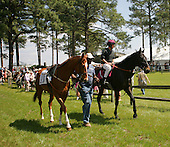 Flat Top and Janet Elliot pony Corp Quest at Springdale Race Course during the Carolina Cup races in 2006.