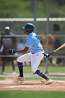 Myles Smith (27) during the WWBA World Championship at Lee County Player Development Complex on October 9, 2020 in Fort Myers, Florida.  Myles Smith, a resident of Inglewood, California who attends Crossroads High School, is committed to UC Irvine.  (Mike Janes/Four Seam Images)
