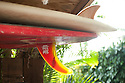 Surfboards at Jeff Bushman in Hawaii