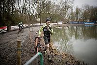 Klaas Groenen (NED) walking out of the race<br /> <br /> 2021 Flandriencross Hamme (BEL)<br /> Men's Race<br /> <br /> ©kramon
