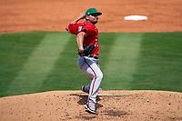 Washington Nationals pitcher Luis Avilán (70) during a Major League Spring Training game against the New York Mets on March 18, 2021 at Clover Park in St. Lucie, Florida.  (Mike Janes/Four Seam Images)