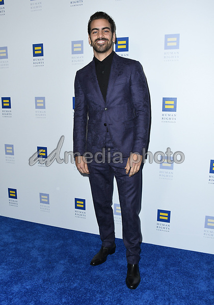 10 March 2018 - Los Angeles, California - Nyle DiMarco. The Human Rights Campaign 2018 Los Angeles Dinner held at JW Marriott LA Live. Photo Credit: Birdie Thompson/AdMedia