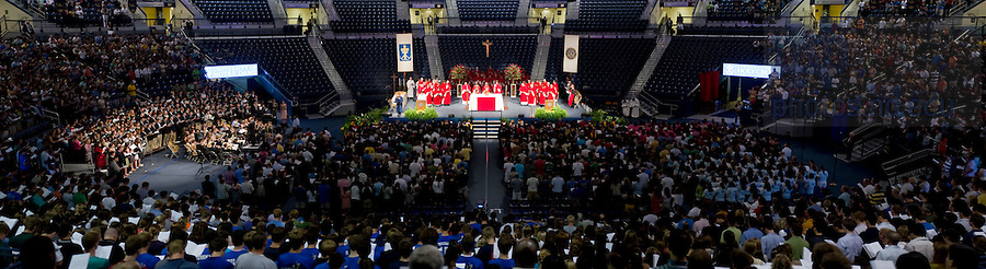 Aug. 23, 2011; Opening Mass for the 2011 academic year at the Purcell Pavilion...Photo by Matt Cashore/University of Notre Dame