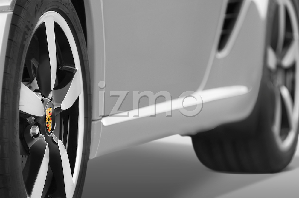Close up tire and wheel detail of a 2008 Porsche Boxster LE