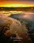 Sunset, Queen's Laundry, Midway Geyser Basin, Yellowstone National Park, Wyoming