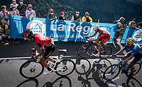 WInner Anacona (COL/Arkea-Samsic) showing signs of an earlier crash up the Puy Mary (uphill finish)<br /> <br /> Stage 13 from Châtel-Guyon to Pas de Peyrol (Le Puy Mary) (192km)<br /> <br /> 107th Tour de France 2020 (2.UWT)<br /> (the 'postponed edition' held in september)<br /> <br /> ©kramon