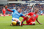 Michael O'Halloran pulled down in the box by Andy Webster but no penalty
