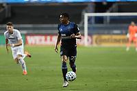 SAN JOSE, CA - NOVEMBER 4: Marcos Lopez #27 of the San Jose Earthquakes during a game between Los Angeles FC and San Jose Earthquakes at Earthquakes Stadium on November 4, 2020 in San Jose, California.