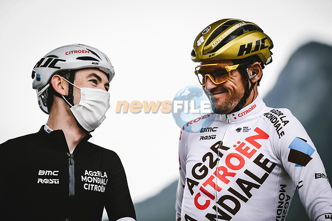Olympic Champion Greg Van Avermaet (BEL) AG2R Citroen Team at sign on before Stage 9 of the 2021 Tour de France, running 150.8km from Cluses to Tignes, France. 4th July 2021.  <br /> Picture: A.S.O./Pauline Ballet   Cyclefile<br /> <br /> All photos usage must carry mandatory copyright credit (© Cyclefile   A.S.O./Pauline Ballet)