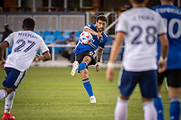 SAN JOSE, CA - MAY 01: Eric Remedi #5 of the San Jose Earthquakes passes the ball during a game between San Jose Earthquakes and D.C. United at PayPal Park on May 01, 2021 in San Jose, California.