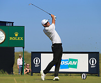 18th July 2021; Royal St Georges Golf Club, Sandwich, Kent, England; The Open Championship,  Golf, Day Four; Scottie Scheffler (USA) at the par three 6th hole