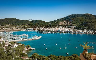 Spanien, Mallorca, Port d'Andratx: hat sich laengst vom Fischerdorf zum Touristenziel und Anlaufpunkt fuer Yachten gemausert | Spain, Mallorca, Port d'Andratx: former fishing village now tourist spot with marina