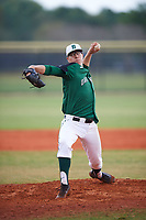 Dartmouth Big Green relief pitcher Marc Bachman (21) delivers a pitch during a game against the Southern Maine Huskies on March 23, 2017 at Lake Myrtle Park in Auburndale, Florida.  Dartmouth defeated Southern Maine 9-1.  (Mike Janes/Four Seam Images)