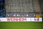 Plakat beim Spiel in der 3. Liga, SV Waldhof Mannheim - Türgücü München.<br /> <br /> Foto © PIX-Sportfotos *** Foto ist honorarpflichtig! *** Auf Anfrage in hoeherer Qualitaet/Aufloesung. Belegexemplar erbeten. Veroeffentlichung ausschliesslich fuer journalistisch-publizistische Zwecke. For editorial use only. DFL regulations prohibit any use of photographs as image sequences and/or quasi-video.
