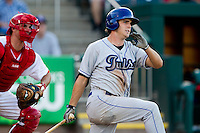 Tim Wheeler (7) of the Tulsa Drillers follows through his swing during a game against the Springfield Cardinals at Hammons Field on July 18, 2011 in Springfield, Missouri. Tulsa defeated Springfield 13-8. (David Welker / Four Seam Images)