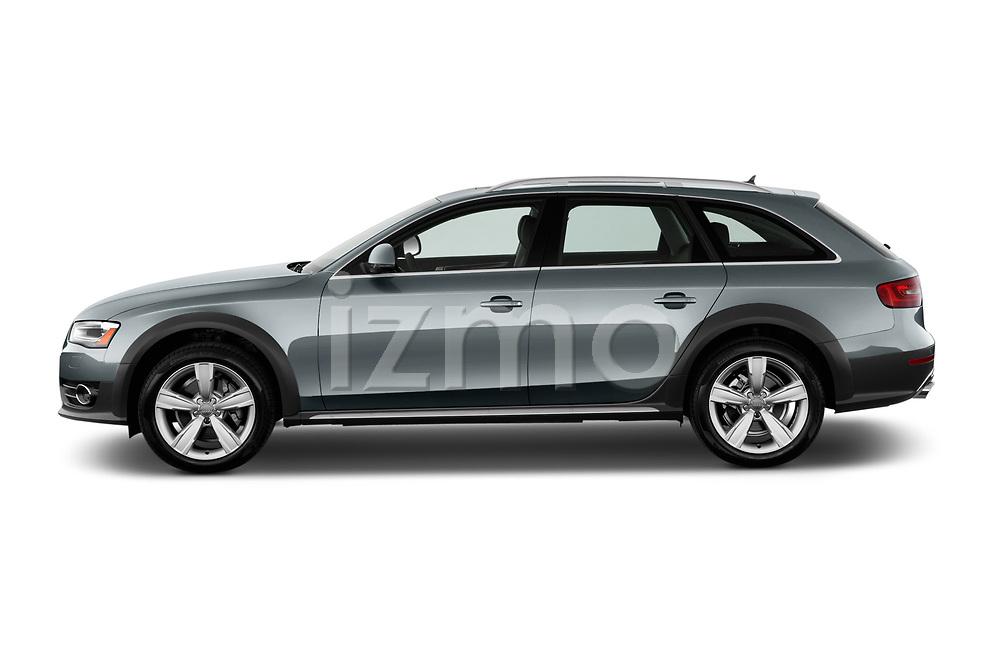 Car driver side profile view of a 2013-2016 Audi A4 Allroad Premium Quattro 4 Door Wagon