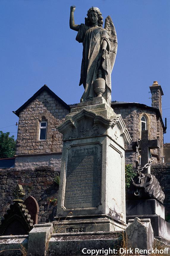 Großbritannien, Wales, viktorianischer Friedhof in Merthyr Tyidfil.cemetery in Merthyr Tyidfil