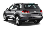 Car pictures of rear three quarter view of a 2015 Volkswagen Touareg Executive 5 Door Sport Utility Vehicle Angular Rear