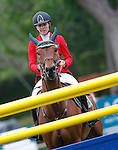 Spain's jockey Diana Marsa with the horse Crusella during 102 International Show Jumping Horse Riding, King's College Trophy. May, 20, 2012. (ALTERPHOTOS/Acero)