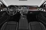 Stock photo of straight dashboard view of 2017 Genesis G80 4 Door Sedan Dashboard