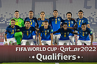 8th June 2021; Defensores del Chaco Stadium, Asuncion, Paraguay; World Cup football 2022 qualifiers; Paraguay versus Brazil;  Players of Brazil pose for official photo before the match