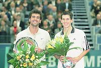 ABN-AMRO TENNIS TOURNAMENT winner Cedric PIOLINE and runner up Tim HENMAN