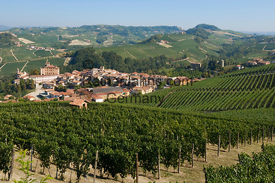 Italien, Piemont, Langhe, Barolo: beruehmter Weinbauort | Italy, Piedmont, Langhe, Barolo: famous wine growing village