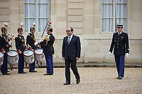 ABDEL FATTAH AL-SISSI - LE PRESIDENT EMMANUEL MACRON RECOIT LE PRESIDENT EGYPTIEN ABDEL FATTAH AL-SISSI AU PALAIS DE L'ELYSEE A PARIS, FRANCE, LE 24/10/2017.