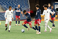 FOXBOROUGH, MA - OCTOBER 09: Nicolas Firmino #29 of New England Revolution II controls the ball during a game between Fort Lauderdale CF and New England Revolution II at Gillette Stadium on October 09, 2020 in Foxborough, Massachusetts.