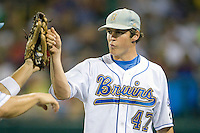 UCLA's Trevor Bauer in Game 6 of the NCAA Division One Men's College World Series on Monday June 21st, 2010 at Johnny Rosenblatt Stadium in Omaha, Nebraska.  (Photo by Andrew Woolley / Four Seam Images)