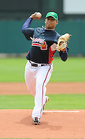 17 March 2009: RHP Jair Jurrjens of the Atlanta Braves in a game against the New York Mets at the Braves' Spring Training camp at Disney's Wide World of Sports in Lake Buena Vista, Fla. Photo by:  Tom Priddy/Four Seam Images