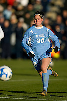 North Carolina Tar Heels forward Leslie Briggs (30). The North Carolina Tar Heels defeated the Notre Dame Fighting Irish 2-1 during the finals of the NCAA Women's College Cup at Wakemed Soccer Park in Cary, NC, on December 7, 2008. Photo by Howard C. Smith/isiphotos.com