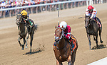 July 15 2021: Echo Zulu #7, ridden by jockey Ricardo Santana Jr. wins the fifth race, a maiden special weight for two-year-olds at Saratoga Race Course in Saratoga Springs, N.Y. on July 15, 2021. Rob Simmons/Eclipse Sportswire/CSM