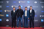 Jia Shengting, Alan Mak, and Cheng Denwei walk the Red Carpet event at the World Celebrity Pro-Am 2016 Mission Hills China Golf Tournament on 20 October 2016, in Haikou, China. Photo by Marcio Machado / Power Sport Images